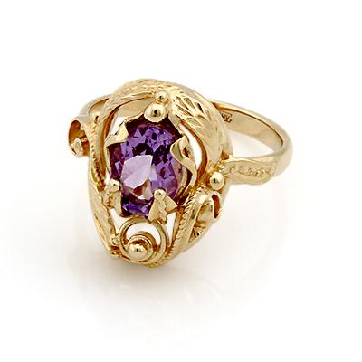 Кольцо с аметистом из желтого золота 5.47 г SL-0245-547