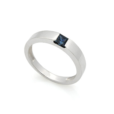 Обручальное кольцо с сапфиром 2.85 г SL-13701-351